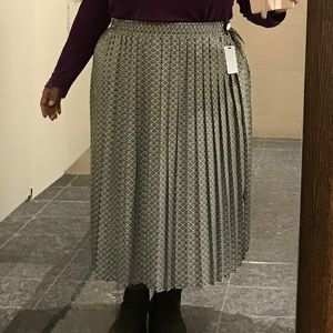 Vintage Skirts - Long Maxi Pleated Skirt